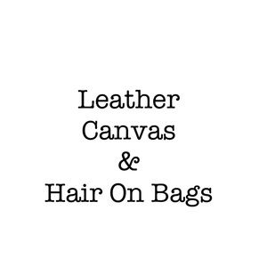 Genuine Leather Cowhide Hair on and Canvas Bags